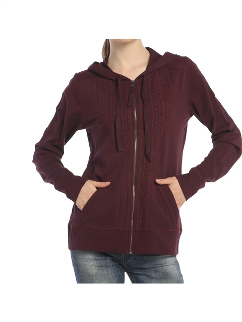 Kapşonlu Sweatshirt - Bordo